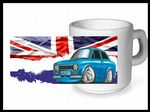 Koolart CLASSIC BRITISH Design For Retro Mk1 Ford Escort Mexico - Ceramic Tea Or Coffee Mug